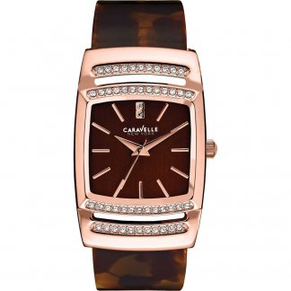 Ladies Glitzy Rose/Tortoiseshell Bangle Watch 44L150