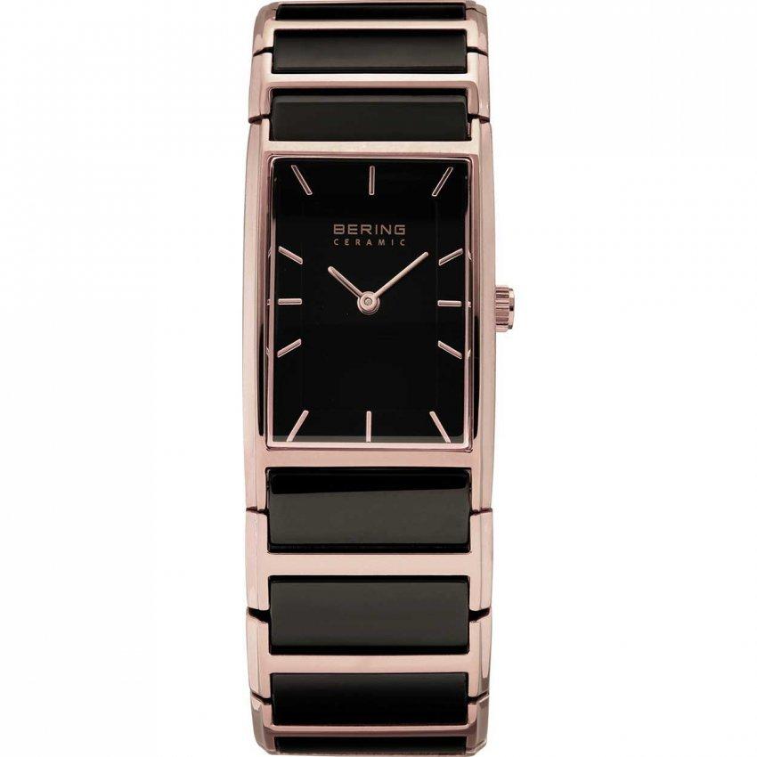 Bering Ladies Ceramic & Rose Gold Ultra Slim Watch 30121-746