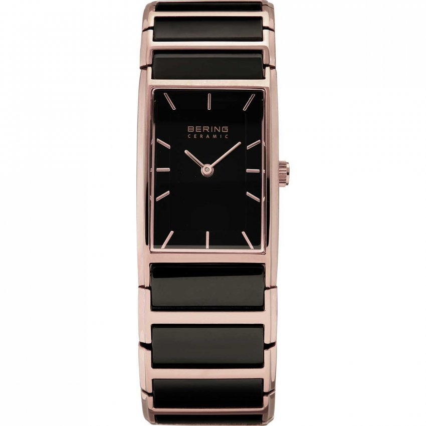 Bering Ladies Ceramic & Rose Gold Ultra Slim Watch 30121-746