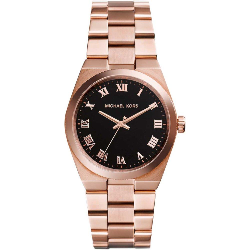 michael kors ladies channing rose gold bracelet watch watches ladies channing rose gold bracelet watch