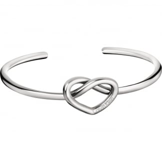 Ladies Charming Small Heart Bangle