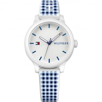 Ladies Check Silicone Strap Ashley Watch