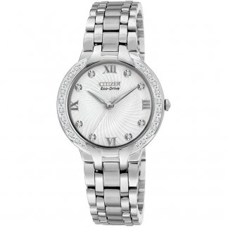 Ladies Bella 28 Diamond Eco-Drive Watch EM0120-58A