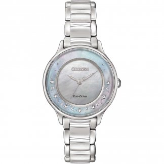 Ladies Circle Of Time Diamond Mother of Pearl Watch EM0380-81N
