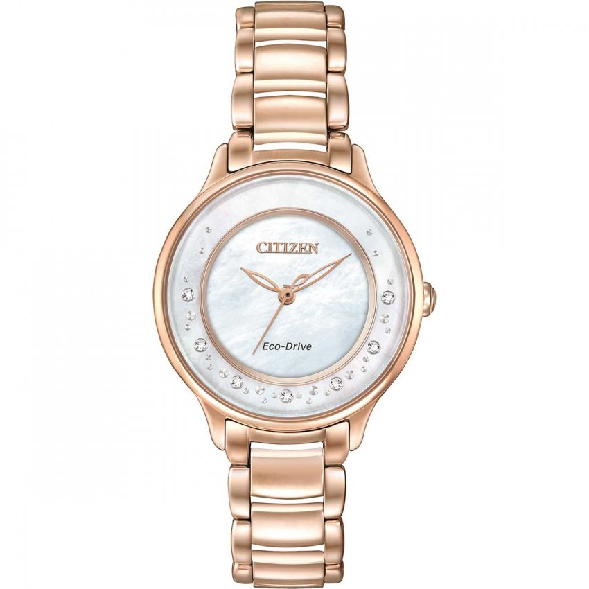 Citizen Ladies Circle Of Time Rose Gold Diamond Watch EM0382-86D