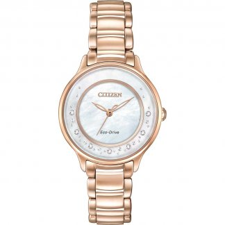 Ladies Circle Of Time Rose Gold Diamond Watch EM0382-86D