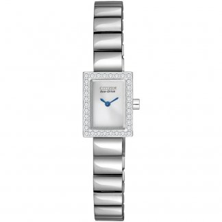 Ladies Silhouette Crystal Eco-Drive Watch EG2880-54A