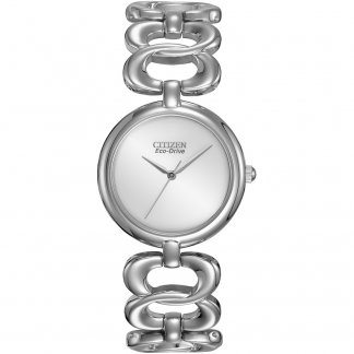 Ladies Silhouette Round Link Bracelet Watch EM0220-53A