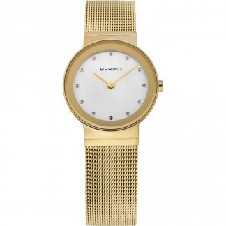 Ladies Classic Gold Plated Swarovski Set Watch