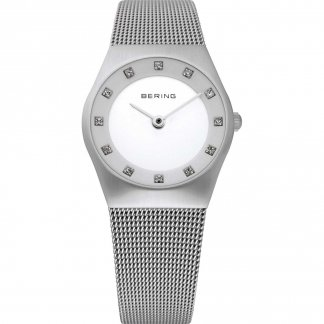 Ladies Classic Milanese Swarovski Set Watch