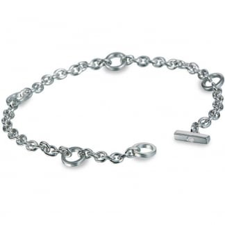 Ladies Classic T Bar Charm Bracelet