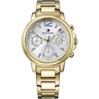 Ladies Claudia Gold Tone Multifunction Watch