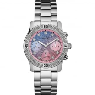 Ladies Confetti Multi-Function Watch With Glitter Dial