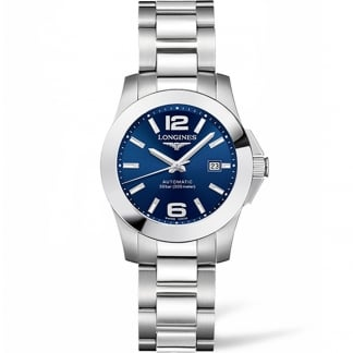 Ladies Conquest 29MM Blue Dial Automatic Watch