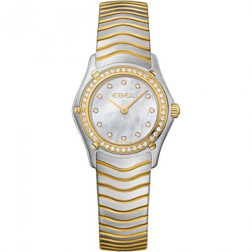 EBEL Ladies Diamond Encrusted Two Tone Wave Watch 1215262