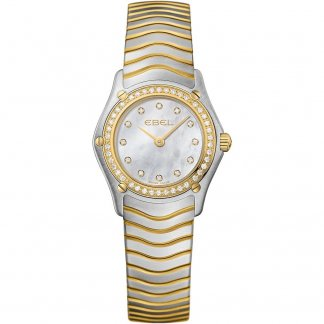 Ladies Diamond Encrusted Two Tone Wave Watch 1215262