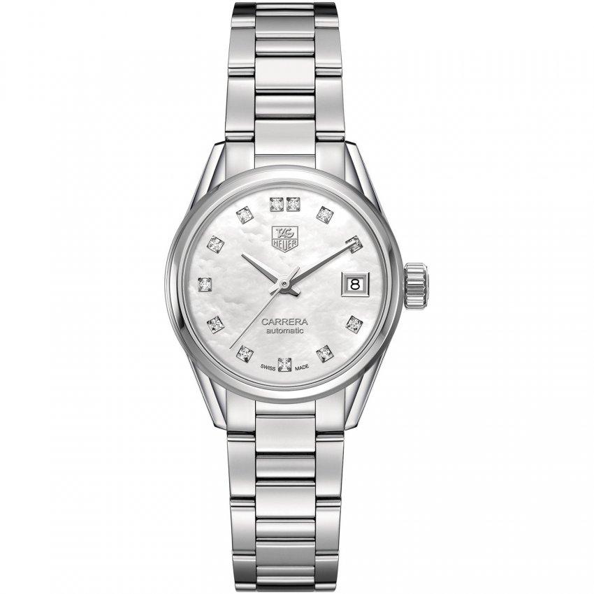 TAG Heuer Ladies Diamond Set Automatic Carrera Watch WAR2414.BA0770