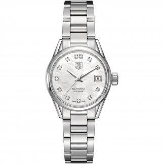 Ladies Diamond Set Automatic Carrera Watch WAR2414.BA0770