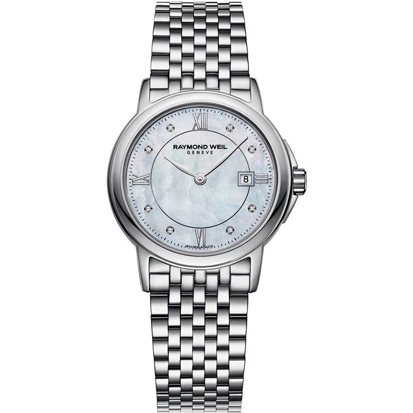 Raymond Weil Ladies Diamond Set MOP Dial Tradition Watch 5966-ST-00995
