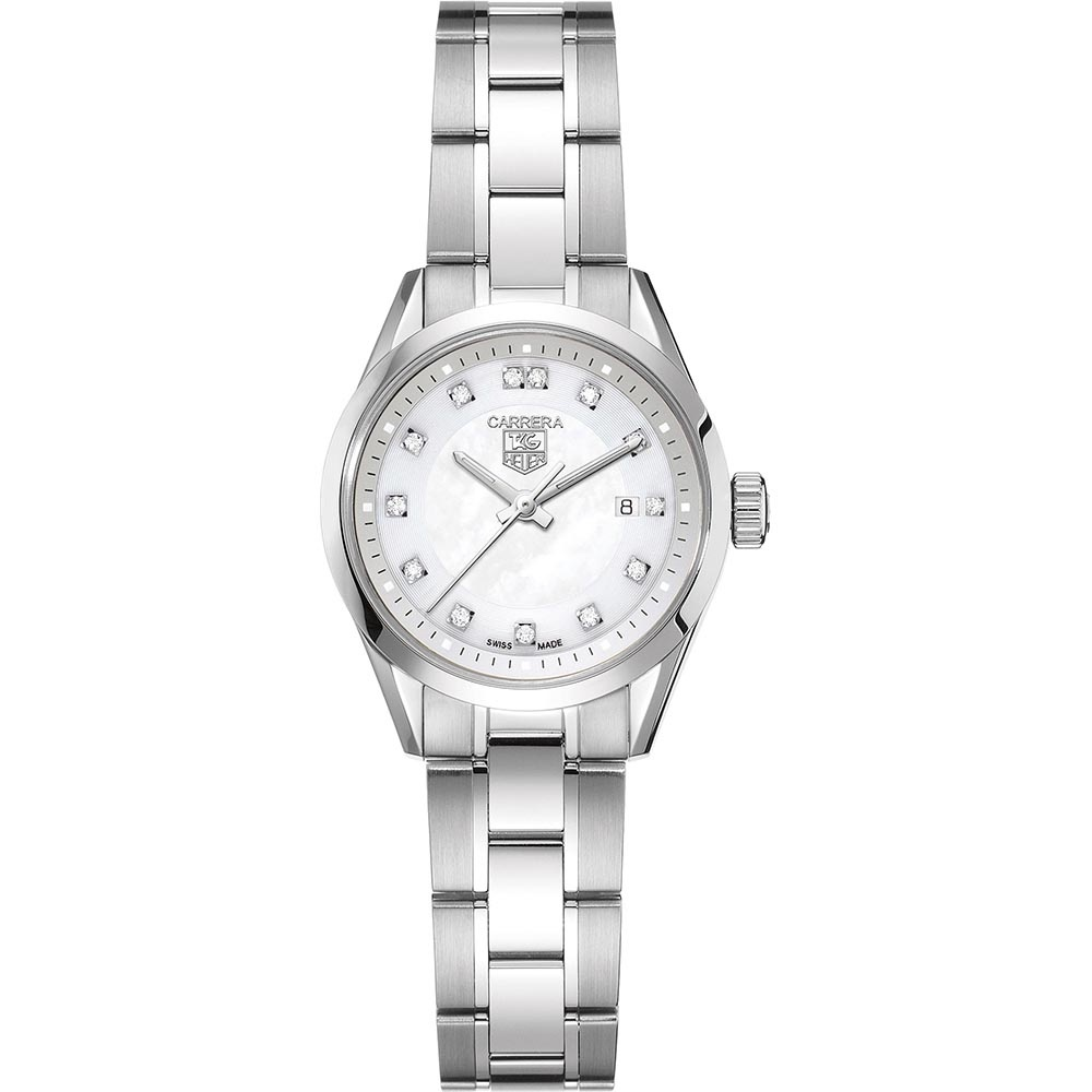 4668caf9ab785 TAG Heuer Ladies Carrera Diamond Set Mother of Pearl Dial Watch Product Code   WV1411.BA0793
