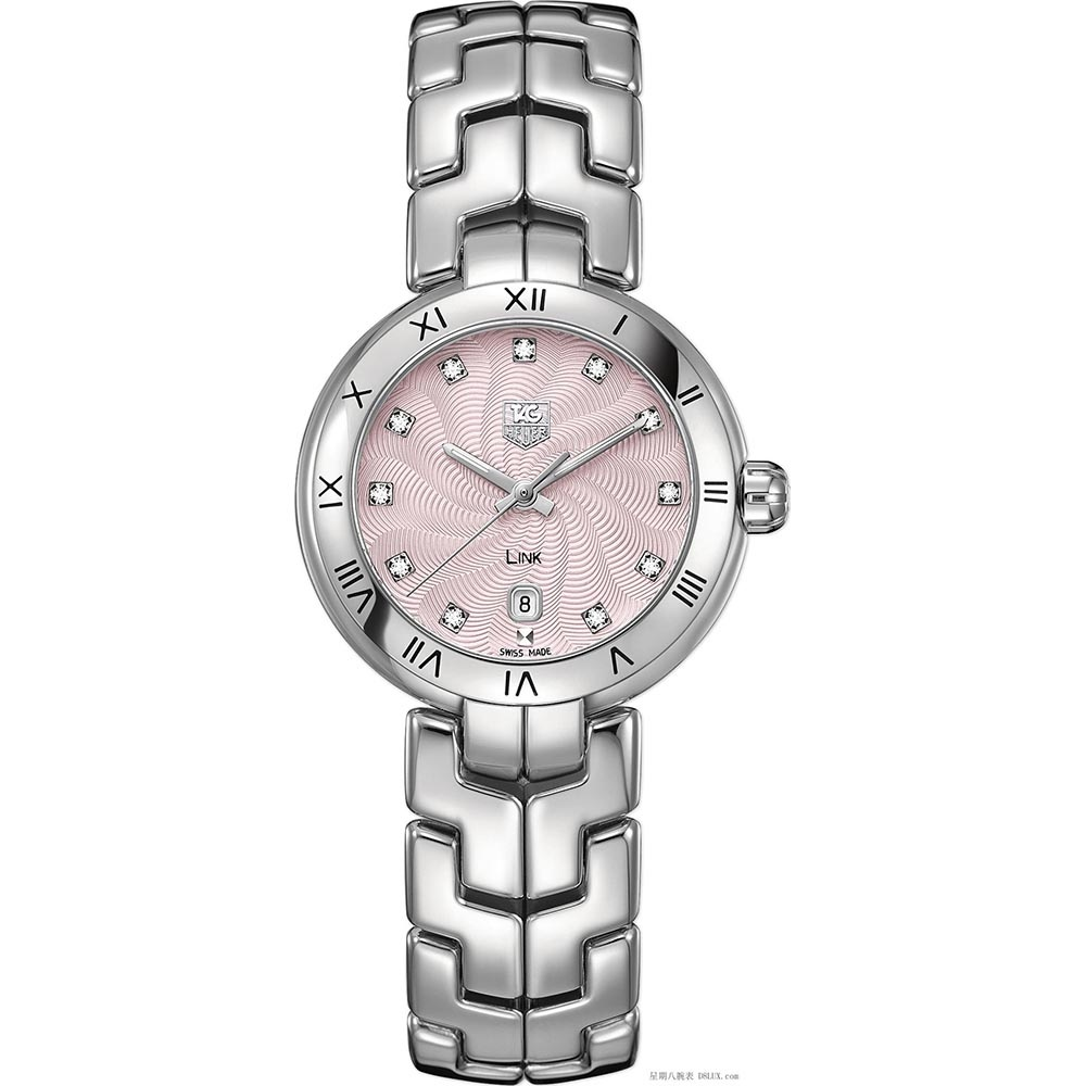 TAG Heuer Ladies Diamond Set Pink Spiral Dial Link Watch Product Code   WAT1415.BA0954 1395be9f90