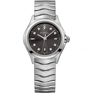 Ladies Diamond Wave Grey Galvanic Dial Watch