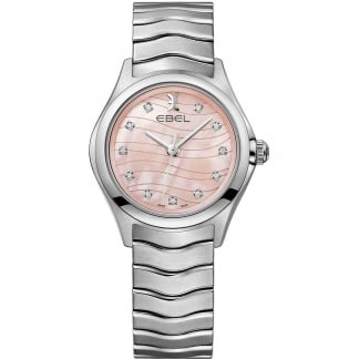 Ladies Diamond Wave Pink MOP Dial Watch