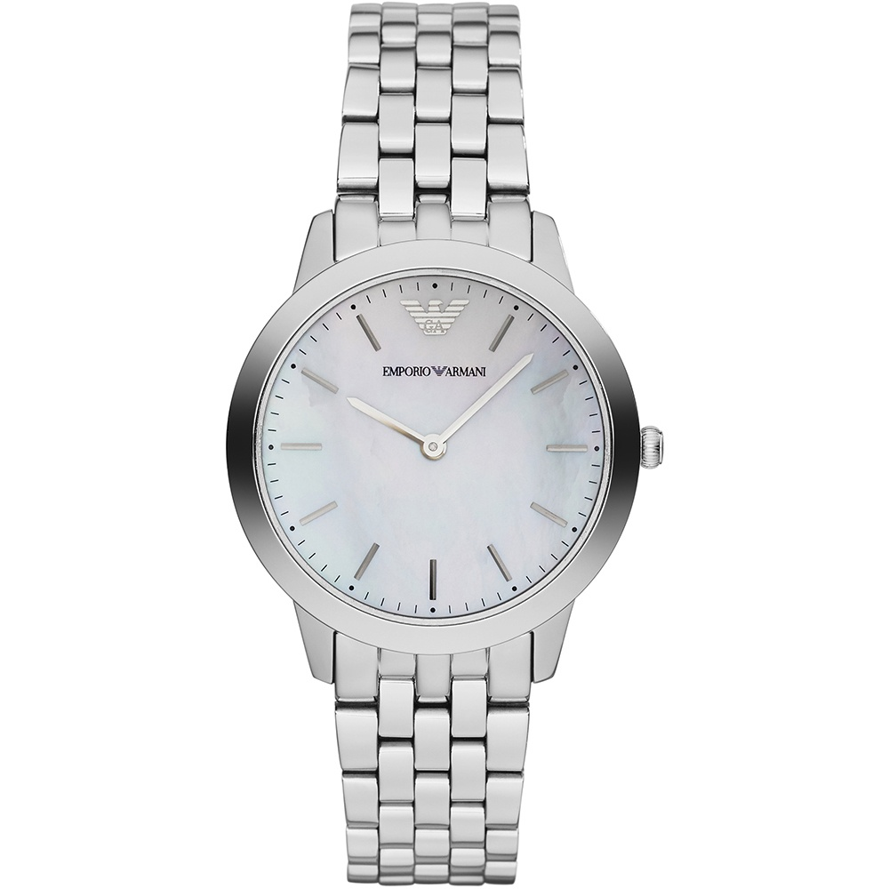 Emporio Armani Ladies Dino Slim Mother of Pearl Watch