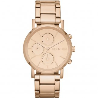 Ladies Rose Gold Tone Lexington Chronograph Watch NY8862