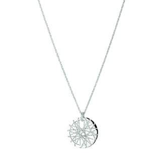 Ladies Dream Catcher Sterling Silver Necklace