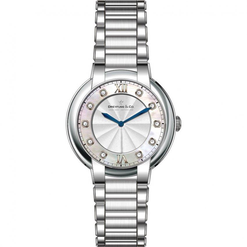 Dreyfuss & Co Ladies 1974 Gorgeous Diamond Set Watch DLB00060/D/01