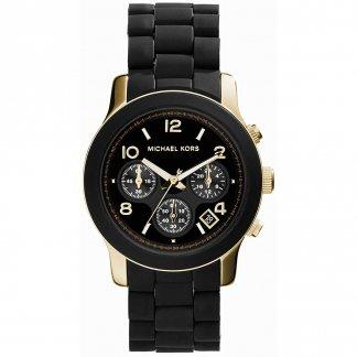 Ladies Dual Tone Black & Gold Runway Watch MK5191
