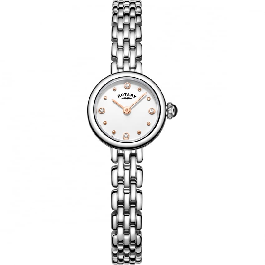 Rotary Ladies Elegant Stainless Steel Cocktail Watch LB05052/02