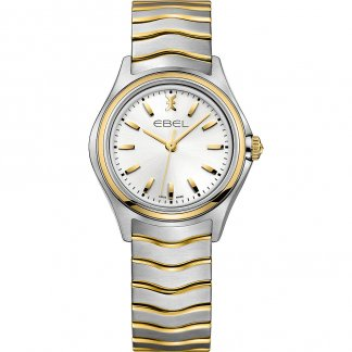 Ladies Elegant Two Tone Wave Watch
