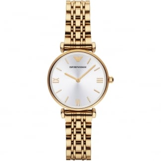 Ladies Gold Plated Gianni T-Bar Watch AR1877