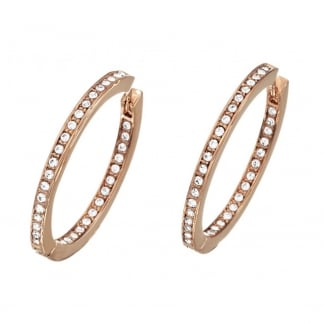 Ladies 'Eternity' Rose Gold Hoop Earrings