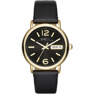 Ladies Fergus Black Leather Day/Date Watch