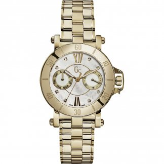 Ladies Gold Plated Diamond Set Femme Watch X74111L1S