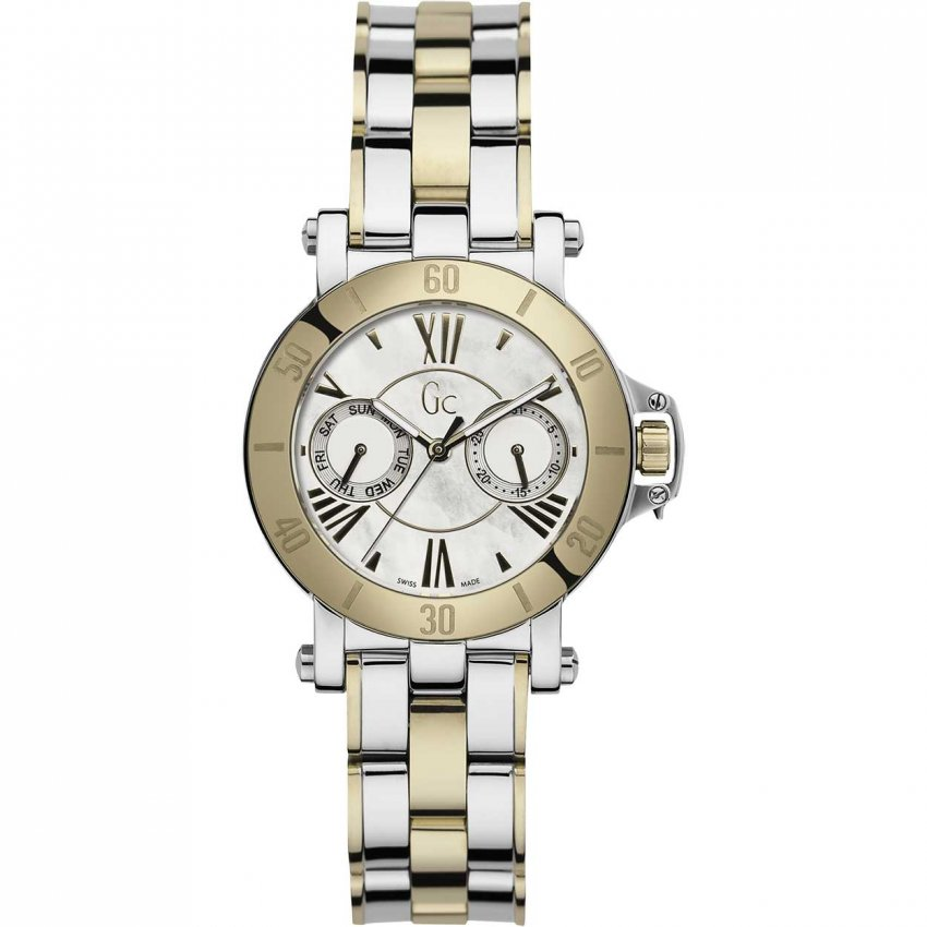 Gc Ladies Diamond Set Two Tone Femme Watch X74013L1S
