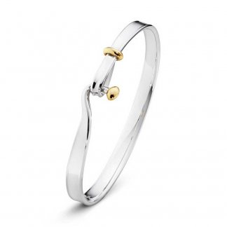Silver & Yellow-Gold Torun Bangle