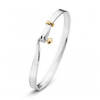 Silver & Yellow-Gold Torun Bangle 3531178