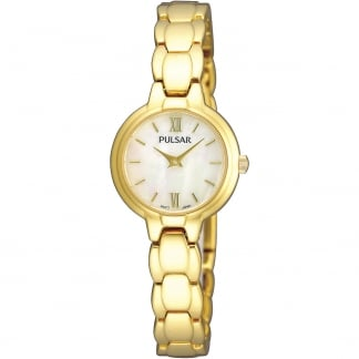 Ladies Gold and Mother of Pearl Dial Watch