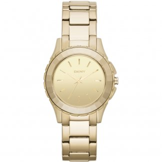 Ladies Gold Tone Broadway Watch NY2116