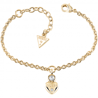 Ladies Gold Plated Guessy Heart Bracelet