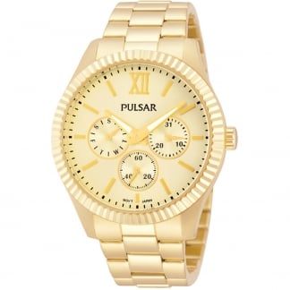 Ladies Gold Plated Multifunction Watch