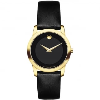 Ladies Gold Plated Museum 28mm Watch