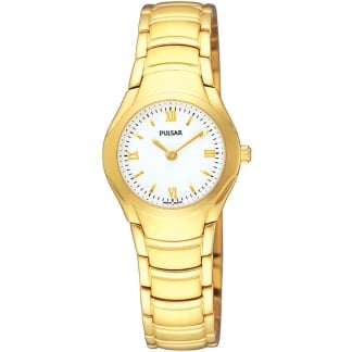 Ladies Gold Plated White Dial Classic Watch PEGE80X1