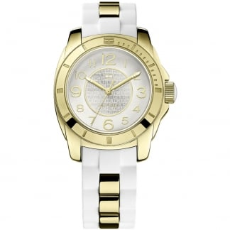 Ladies Gold PVD & White Rubber K2 Watch