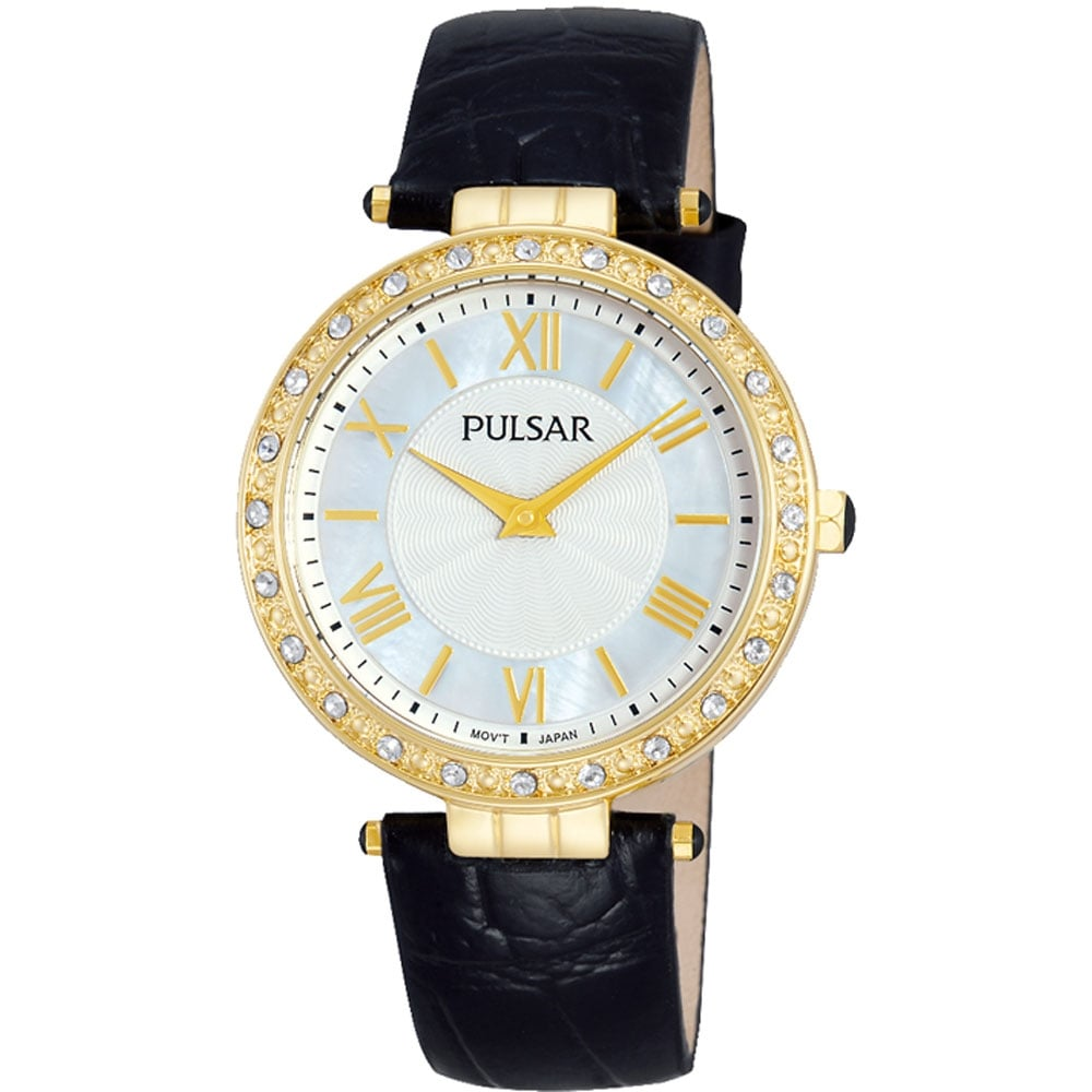 pulsar gold set and leather