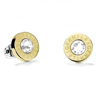 Ladies Gold Stone Set Earring Studs